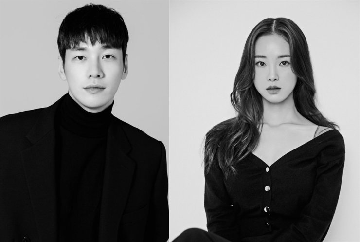 Actors Kim Young-kwang, left, and Kang Hae-lim will star in Netflix's new series, 'Somebody.' Courtesy of Wide-S Company, Fantagio