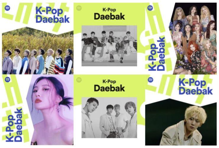 Spotify's 'K-Pop Daebak' playlist / Courtesy of Spotify