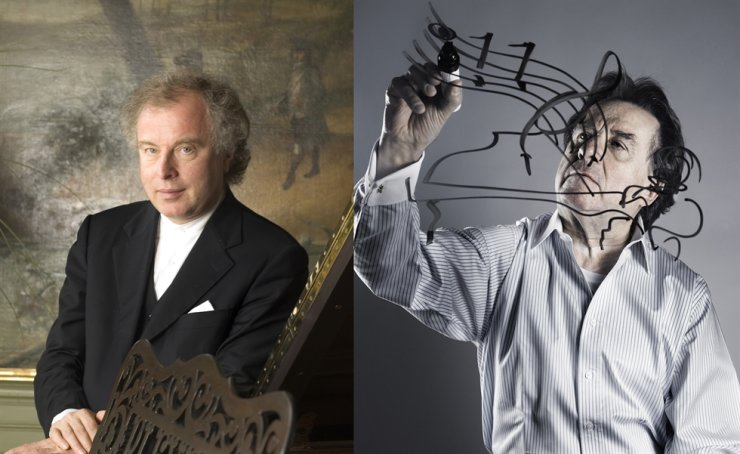 From left, pianists Andras Schiff and Rudolf Buchbinder / Courtesy of Mast Media and Vincero