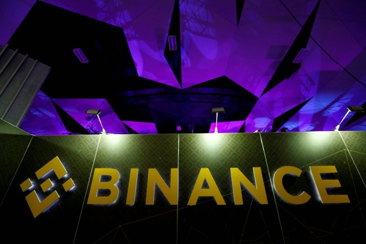 In this 2018 October file photo, the logo of Binance is seen on their exhibition stand at the Delta Summit, Malta's official Blockchain and Digital Innovation event promoting cryptocurrency, in St Julian's, Malta. Reuters-Yonhap