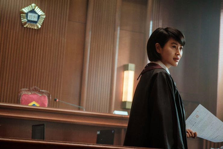 Actress Kim Hye-soo in a scene from the series, 'Juvenile Justice' / Courtesy of Netflix