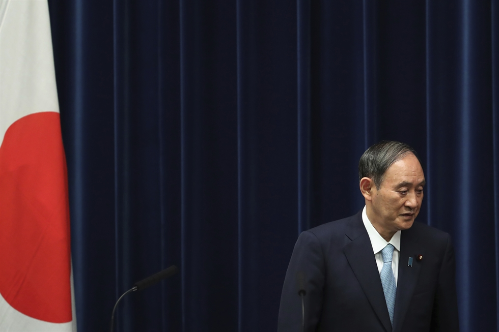Former Japanese Foreign Minister Fumio Kishida attends a press conference at the Liberal Democratic Party (LDP) headquarters in Tokyo, Japan, Wednesday, after being elected the LDP president. He will become next prime minister of the country. EPA-Yonhap