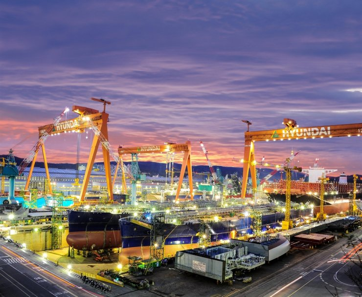 Hyundai Heavy Industries shipyard in Ulsan / Courtesy of Korea Shipbuilding & Offshore Engineering