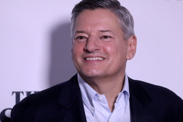 Netflix executive Ted Sarandos arrives for the world premiere of his film 'The Irishman' in New York City, New York, Sept. 27, 2019. He said Monday (U.S. time) that 'Squid Game,' Netflix's new Korean survival drama, may become the global streaming entertainment giant's most successful original content ever. Reuters-Yonhap