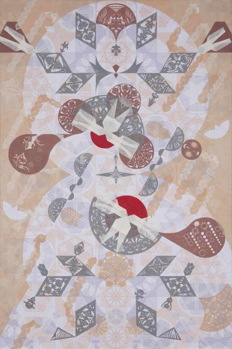 'Descending Sunrise ― Mesmerizing Mesh #11' (2021) by Yang Hae-gue / Courtesy of the artist and Kukje Gallery