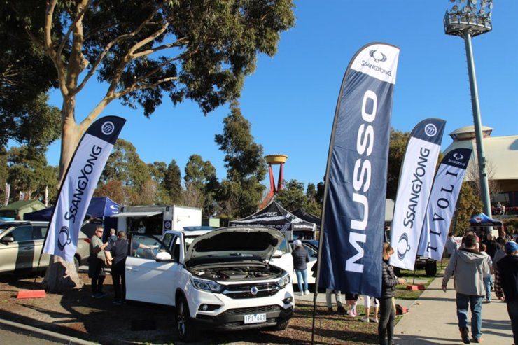 SsangYong Motor's vehicles are on display at the National 4X4 Outdoors Show in Melbourne, Australia in this 2019 photo. Courtesy of SsangYong Motor