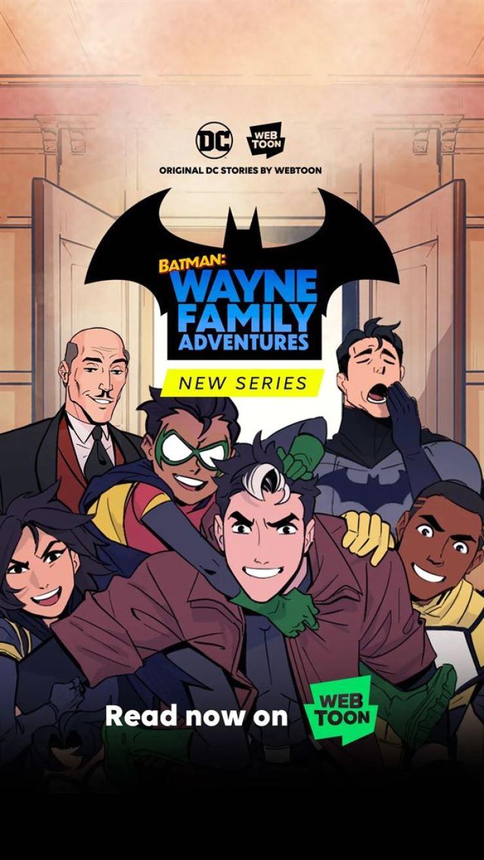 The new original webtoon series, 'Batman: Wayne Family Adventures' / Courtesy of Naver Webtoon