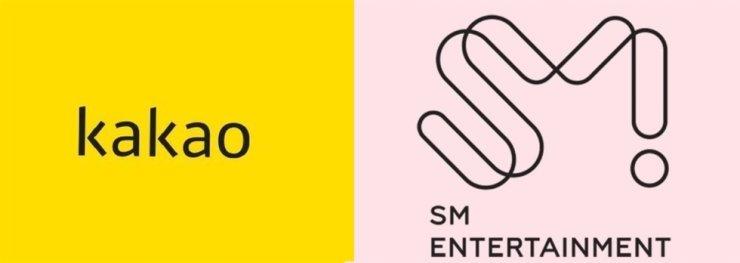 카카오, SM엔터테인먼트 기업 로고 / 각사 제공