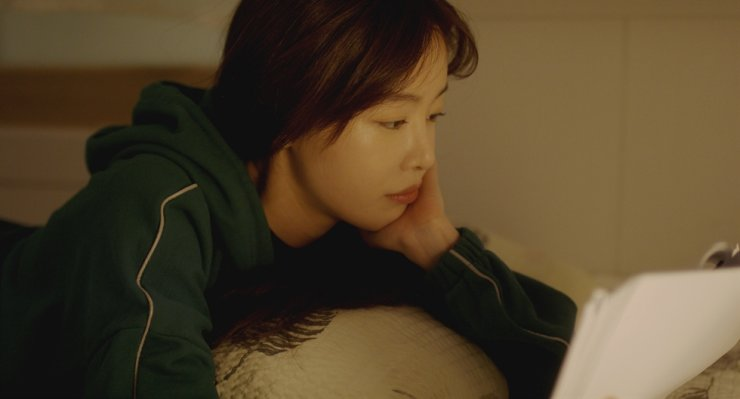 Han Sun-hwa in a scene from the film,