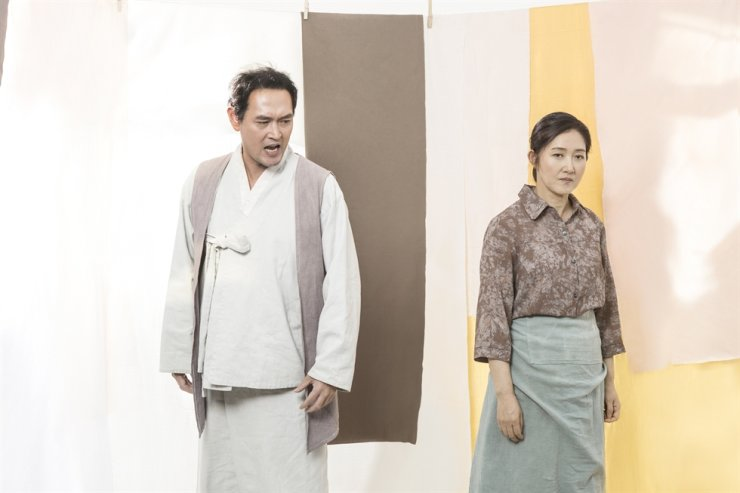 A scene from the play, 'Manseon: The Yearning of a Fisherman' / Courtesy of the National Theater of Korea