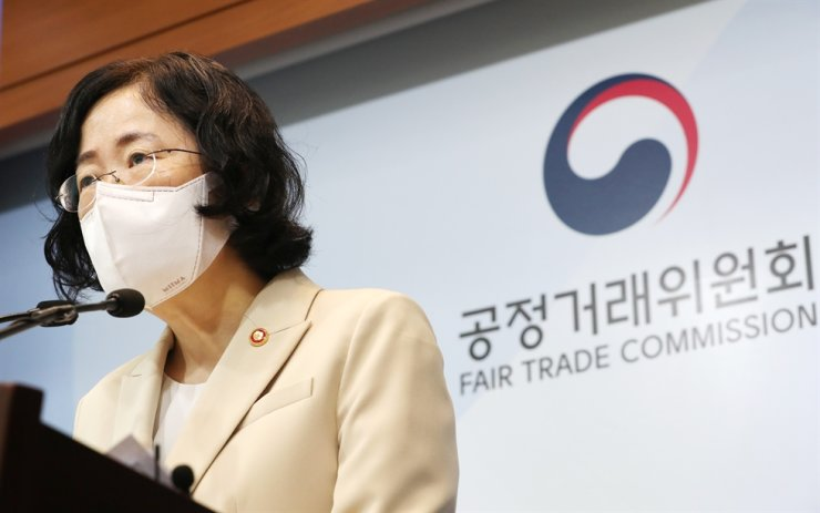 Korea Fair Trade Commission Chairperson Joh Sung-wook speaks during a briefing in Sejong, Tuesday, outlining a 207 billion won fine on Google for its practice of blocking the market entry of competing operating system (OS) developers. Yonhap