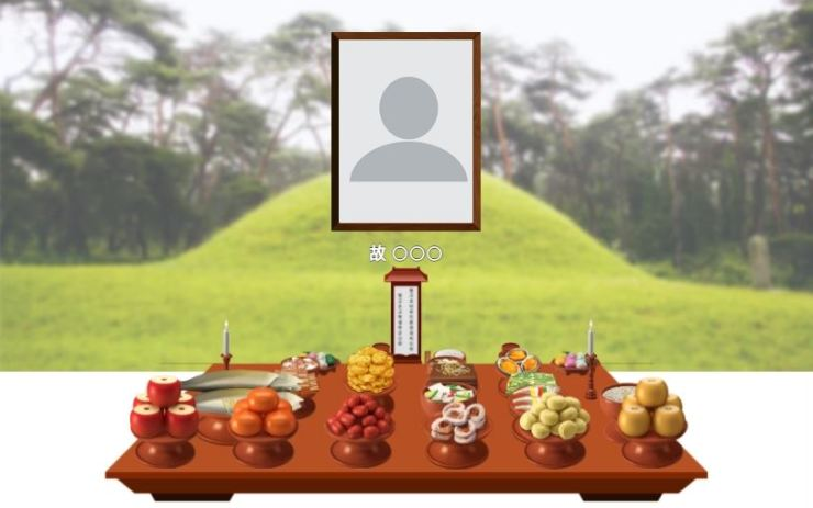 Seen is an example of an online memorial site created at 'eSky Funeral Information System,' a virtual memorial platform developed by the Ministry of Health and Welfare and the Korean Funeral Culture and Policy Institute in 2020. Screenshot from eSky Funeral Information System