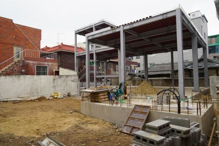 This photo taken on Feb. 14 shows the construction site of a mosque in Daegu's Buk District. Korea Times file