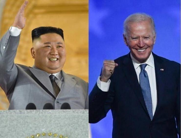 North Korean leader Kim Jong-un, left, and U.S. President Joe Biden / Korea Times file