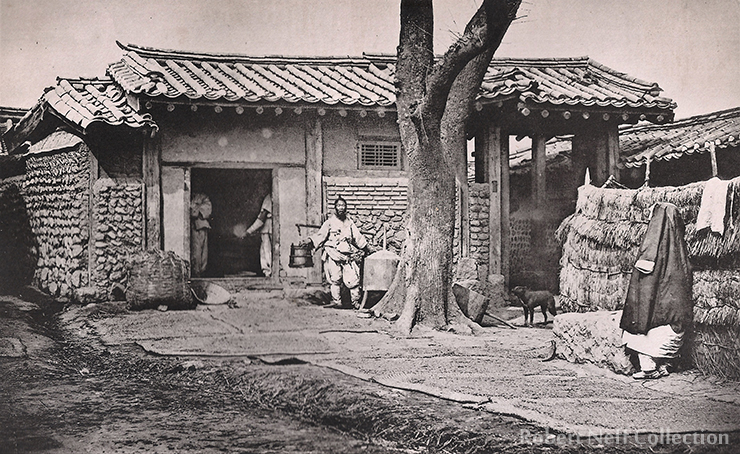 A Westerner and his Korean ponies in the late 19th century / Robert Neff Collection