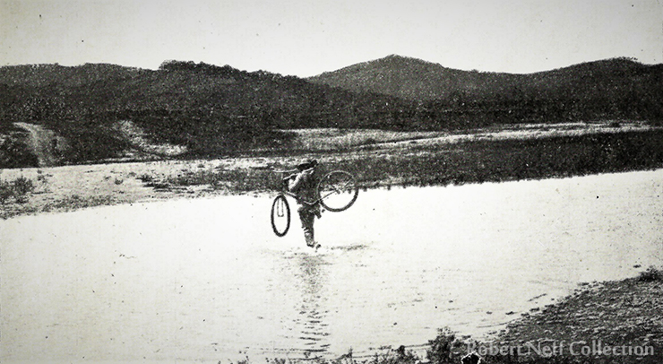 A Korean officer on his own 'wheel' in the late 19th century / Robert Neff Collection