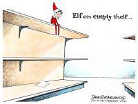 Elf on empty shelf