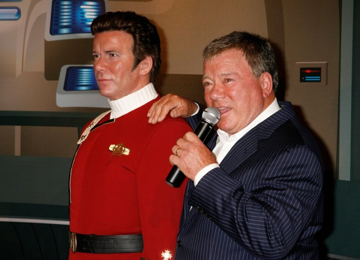 In this Nov. 4, 2009 file photo, Canadian actor William Shatner speaks as he unveils a wax figure of himself as character Captain James T. Kirk from the 'Star Trek' television series at Madame Tussauds Hollywood. Reuters-Yonhap