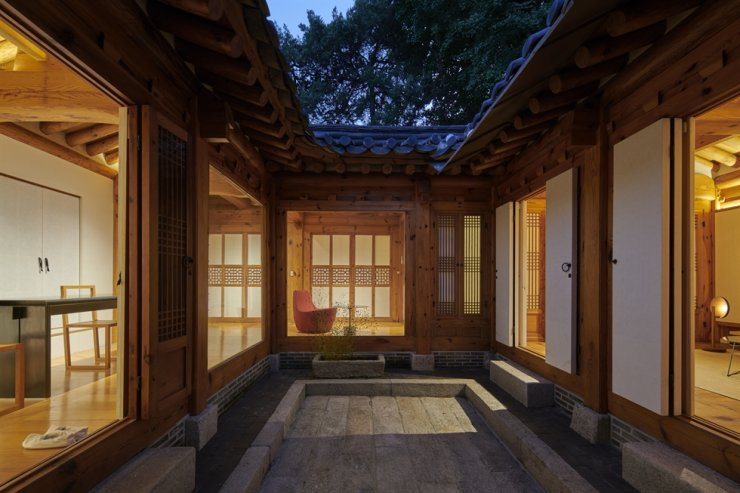 Arumjigi Culture Keepers Foundation's 20th anniversary exhibition 'Homecoming' is held at the Arumjigi Anguk-dong Hanok through Dec. 5. Courtesy of Arumgiji Culture Keepers Foundation