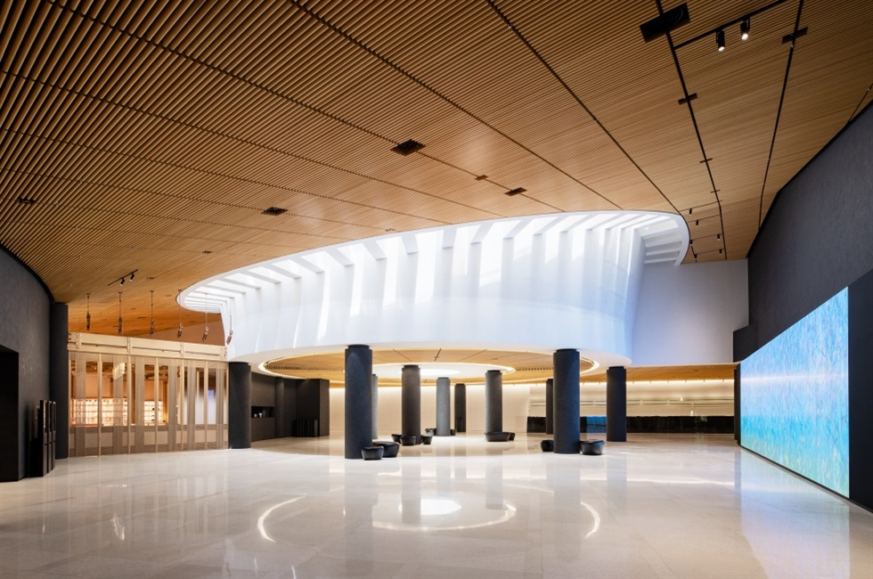 Kimsooja's 'To Breathe' (2021) is installed on the ceiling of the iconic rotunda of the remodeled Leeum, Samsung Museum of Art, in Yongsan District, central Seoul. Courtesy of Leeum and Kimsooja Studio