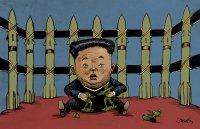 Kim showing his arsenal