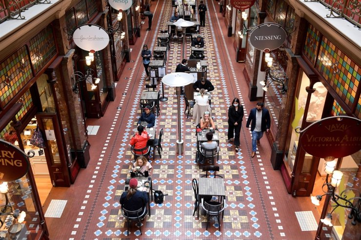 A general view of a cafe in the Strand Arcade, Sydney, Oct. 12. EPA-Yonhap