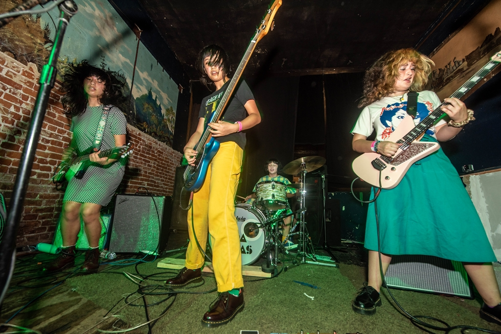 The Linda Lindas perform at The Smell in Los Angeles last month. / Courtesy of Albert Licano