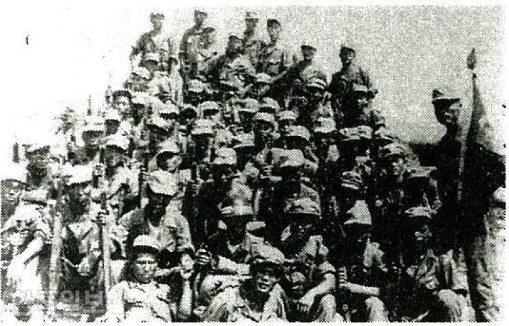 This 1951 file photo shows members of the Korea Liaison Office. Korea Times file