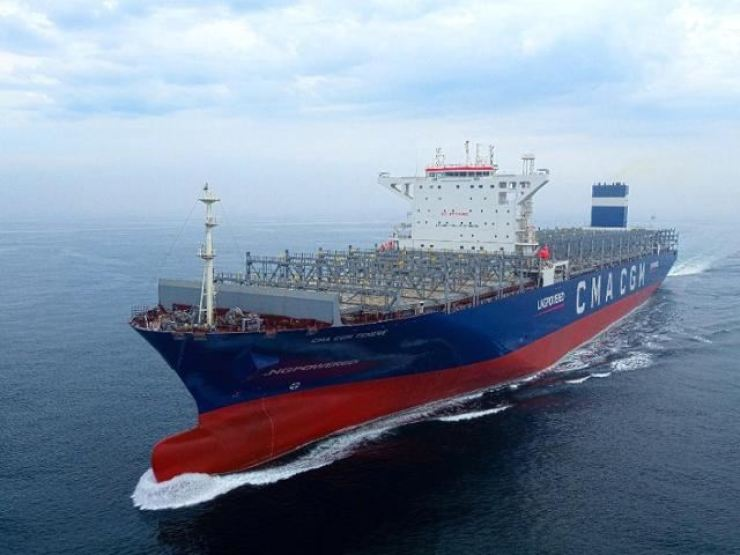 Hyundai Heavy Industries developed the world's first LNG-powered container ship. Courtesy of Hyundai Heavy Industries