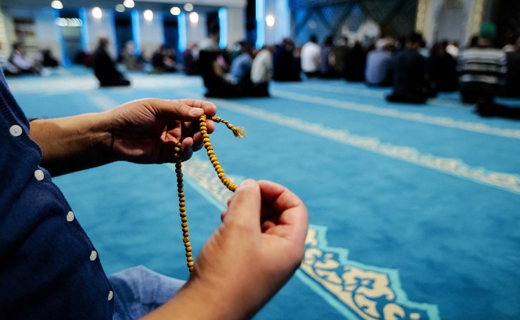 Muslims pray on the first night of the holy month of Ramadan at the Turkish Ulu Mosque in Utrecht, The Netherlands, 05 May 2019 (issued 06 May 2019). EPA