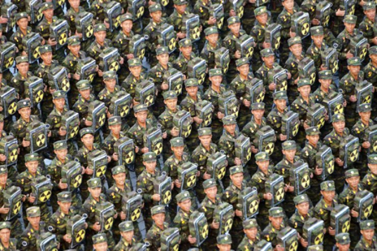 North Korea created a 'nuclear backpack' military unit in March, according to Radio Free Asia. / Yonhap