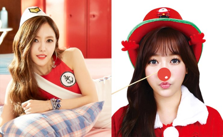 Hyomin (left) and Soyeon/ Courtesy of MBK Entertainment