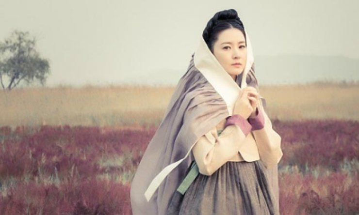 Lee Young-ae featured in a promotional poster for 'Saimdang'