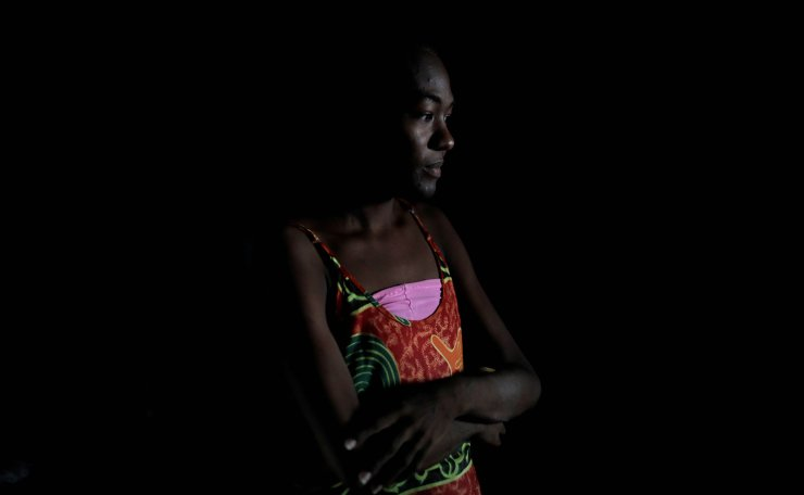 Aidalis Guanipa, 25, a kidney disease patient, stands in her house during a blackout in La Concepcion, Venezuela, April 12, 2019. Reuters