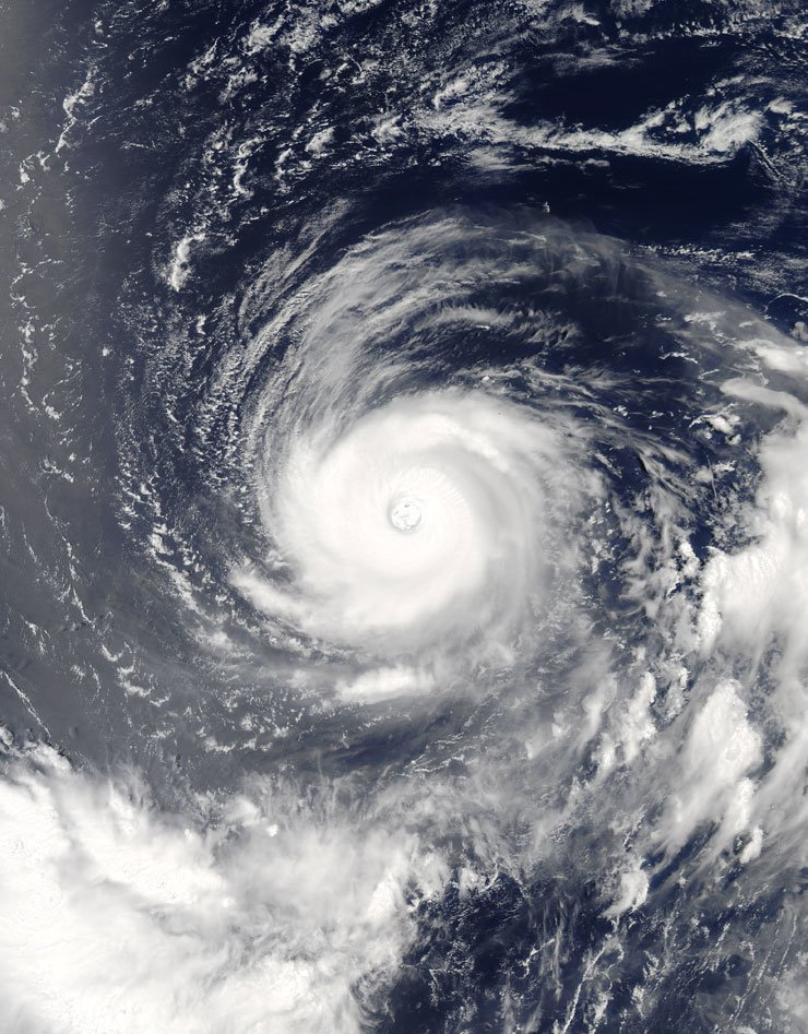 Typhoon Nora taken by NASA's Aqua satellite from the International Space Station on July 31 / Yonhap