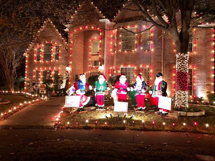 Homes in the Deerfield community of Plano, north of Dallas, put on a light show in celebration of the Christmas season. / Courtesy of Jane Han