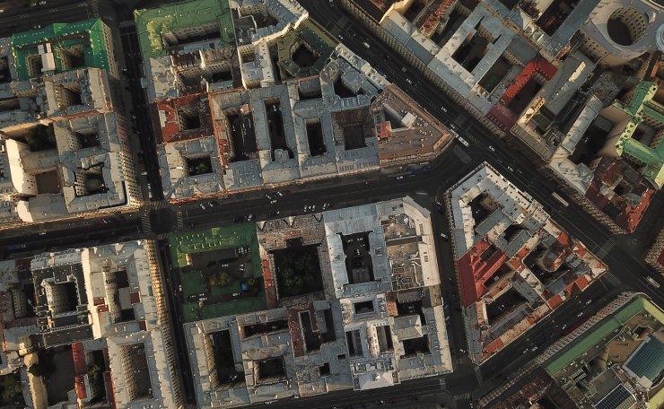 An aerial view of St Petersburg. TASS