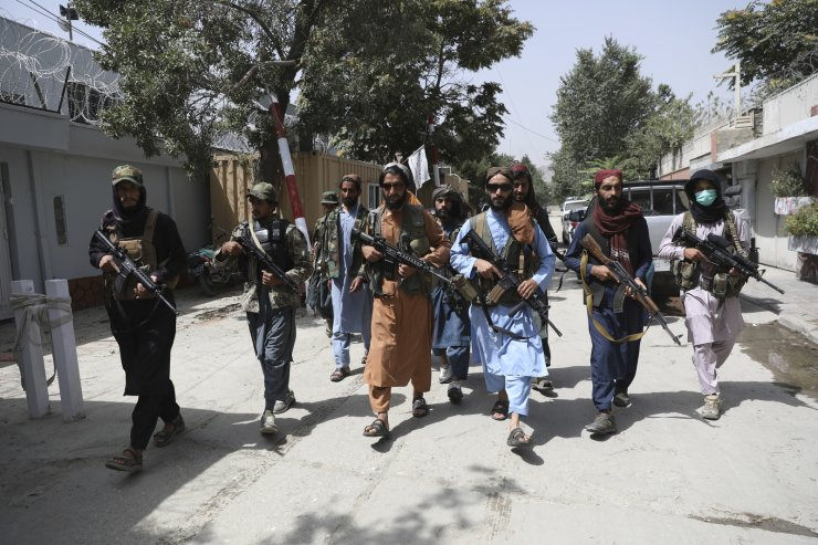 Taliban fighters patrol in the Wazir Akbar Khan neighborhood in the city of Kabul, Afghanistan, Wednesday, Aug. 18, 2021. The Taliban declared an 'amnesty' across Afghanistan and urged women to join their government Tuesday, seeking to convince a wary population that they have changed a day after deadly chaos gripped the main airport as desperate crowds tried to flee the country. AP
