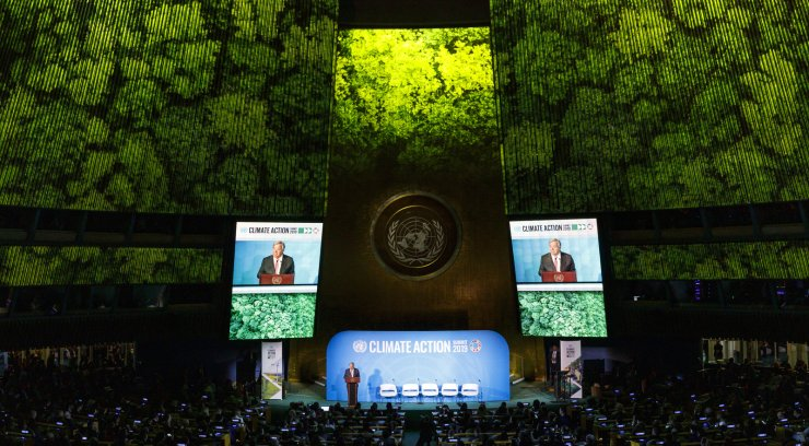 United Nations Secretary-General Antonio Guterres speaks at the start of the 2019 Climate Action Summit which is being held in advance of the General Debate of the General Assembly of the United Nations at United Nations Headquarters in New York, New York, USA, 23 September 2019. World Leaders have been invited to speak at the event, which was organized by the United Nations Secretary-General Antonio Guterres, for the purpose of proposing plans for addressing global climate change. The General Debate of the 74th session of the UN General Assembly begins on 24 September. EPA
