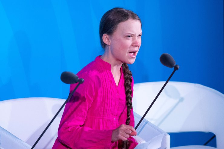 Youth Climate activist Greta Thunberg speaks during the UN Climate Action Summit on September 23, 2019 at the United Nations Headquarters in New York City. AFP