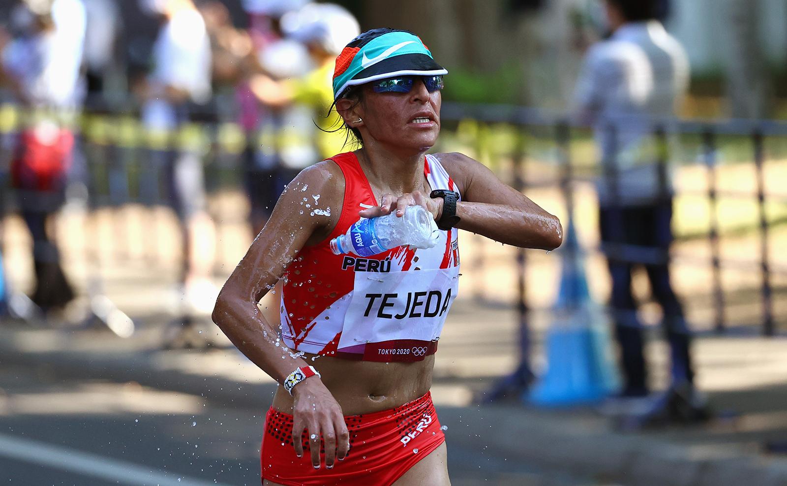 Tokyo 2020 Olympics - Athletics - Women's Marathon - Sapporo Odori Park, Sapporo, Japan - August 7, 2021. Gladys Tejeda of Peru in action. REUTERS