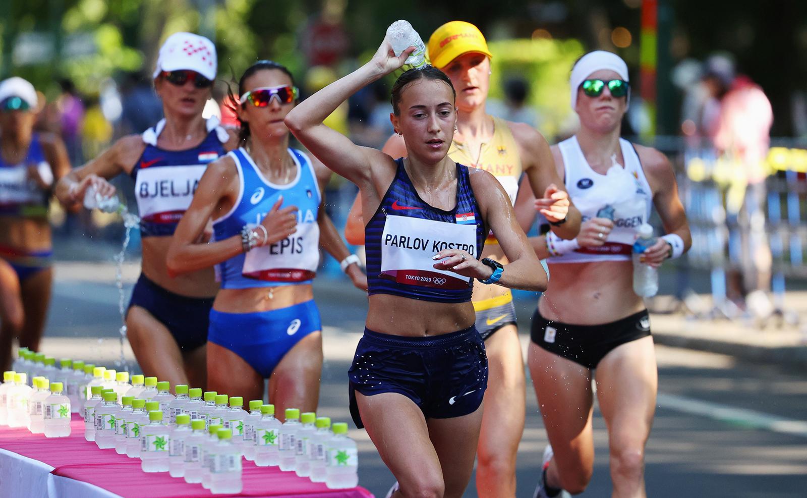 Tokyo 2020 Olympics - Athletics - Women's Marathon - Sapporo Odori Park, Sapporo, Japan - August 7, 2021. Matea Parlov Kostro of Croatia in action. REUTERS