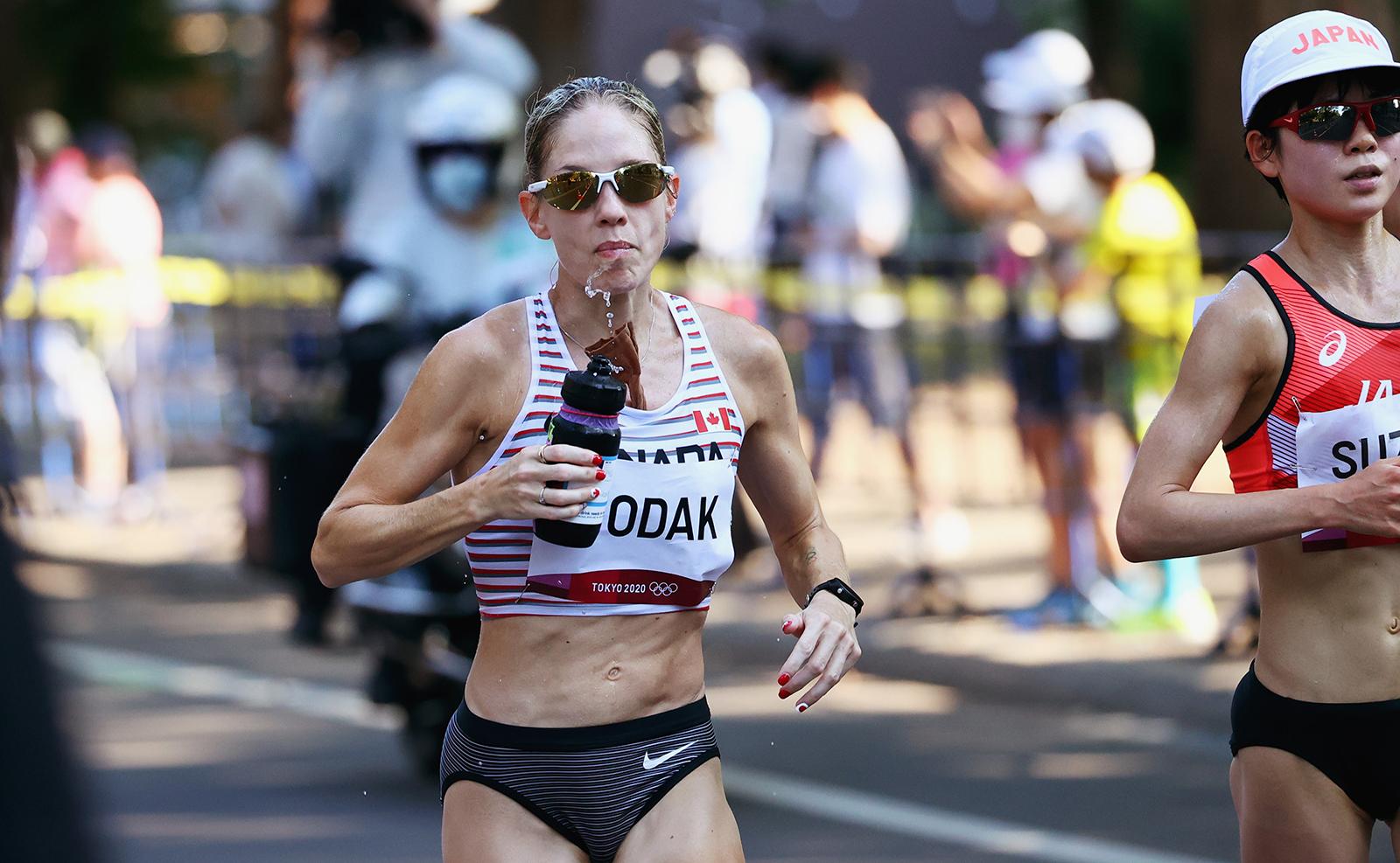 Tokyo 2020 Olympics - Athletics - Women's Marathon - Sapporo Odori Park, Sapporo, Japan - August 7, 2021. Natasha Wodak of Canada in action. REUTERS