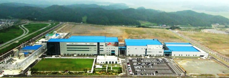 An overview of SK Innovation's battery plant in Seosan, South Chungcheong Province. The company finished expanding its battery manufacturing capacity late last month, as part of its bid to meet the growing demand for batteries for electric vehicles (EVs). / Courtesy of SK Innovation