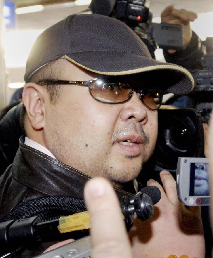 Kim Jong-nam in 2007 when he visited Beijing via a flight from Macau / Korea Times file
