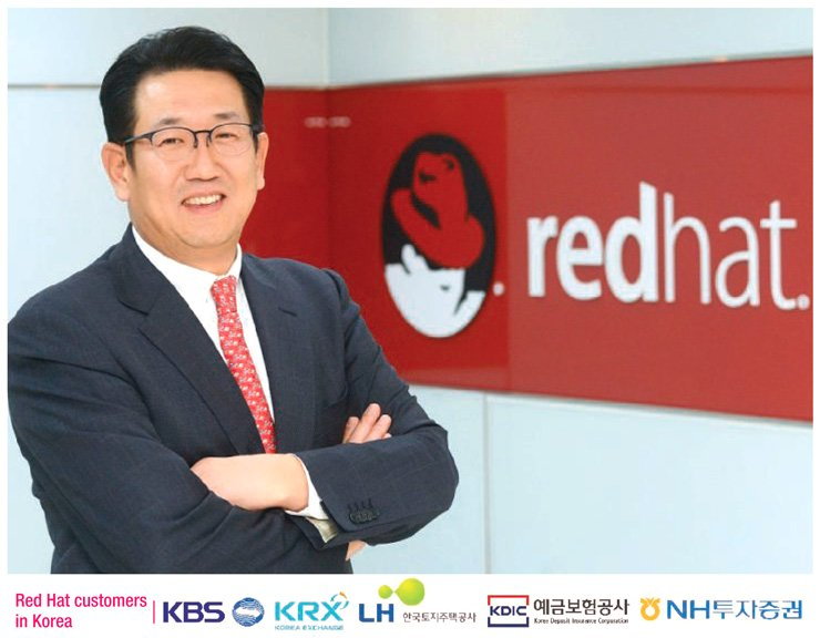 Hahm Jae-kyung, general manager of Red Hat Korea, poses at the firm's head office in Seoul. / Courtesy of Red Hat Korea