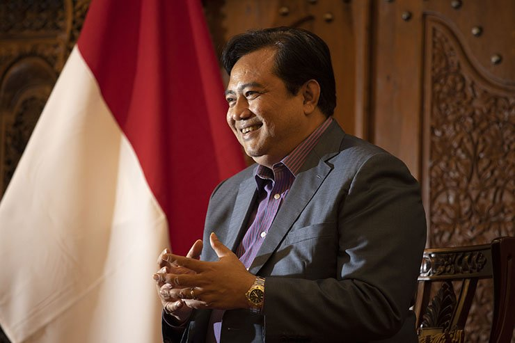 Indonesian Ambassador to South Korea Umar Hadi underscores Indonesia, as ASEAN's only G20 member and the world's largest Muslim-majority nation, should work harder to be an example for ASEAN. / Korea Times photo by Choi Won-suk