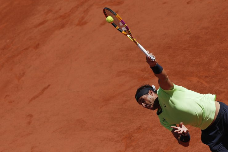 Spain's Rafael Nadal in action during his first round match against Australia's Alexei Popyrin at Roland Garros in Paris, France, June 1. REUTERS