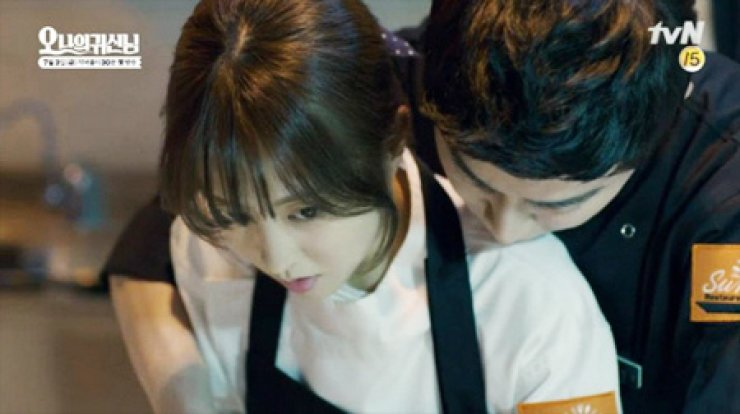 Park Bo-young, left, with co-star Cho Jung-seok from tvN's 'Oh My Ghost'