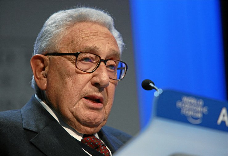 Henry Kissinger at World Economic Forum Annual Meeting Davos 2008 / Courtesy of Wikipedia Commons